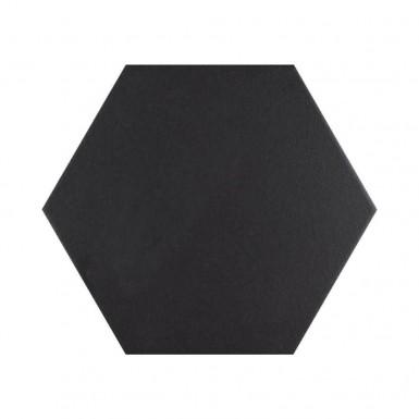 Hex black 25x22