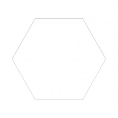 Hex white 25x22